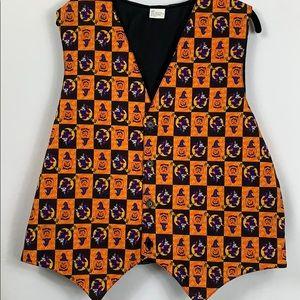 Halloween vest size Lg. Orange/black